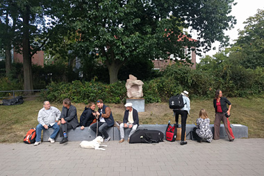 """A moment of silence – a stone for Hamm"" now at U-Bahn station Hammer Kirche, 01/09/2017"